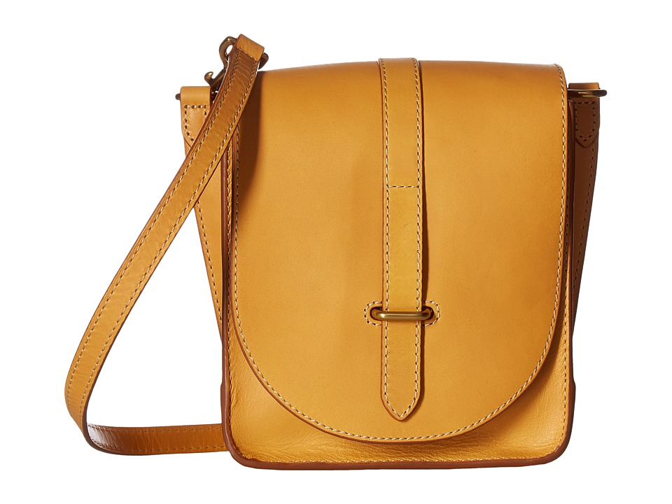 Frye - Ilana Crossbody (Yellow Smooth Veg Tan) Cross Body Handbags