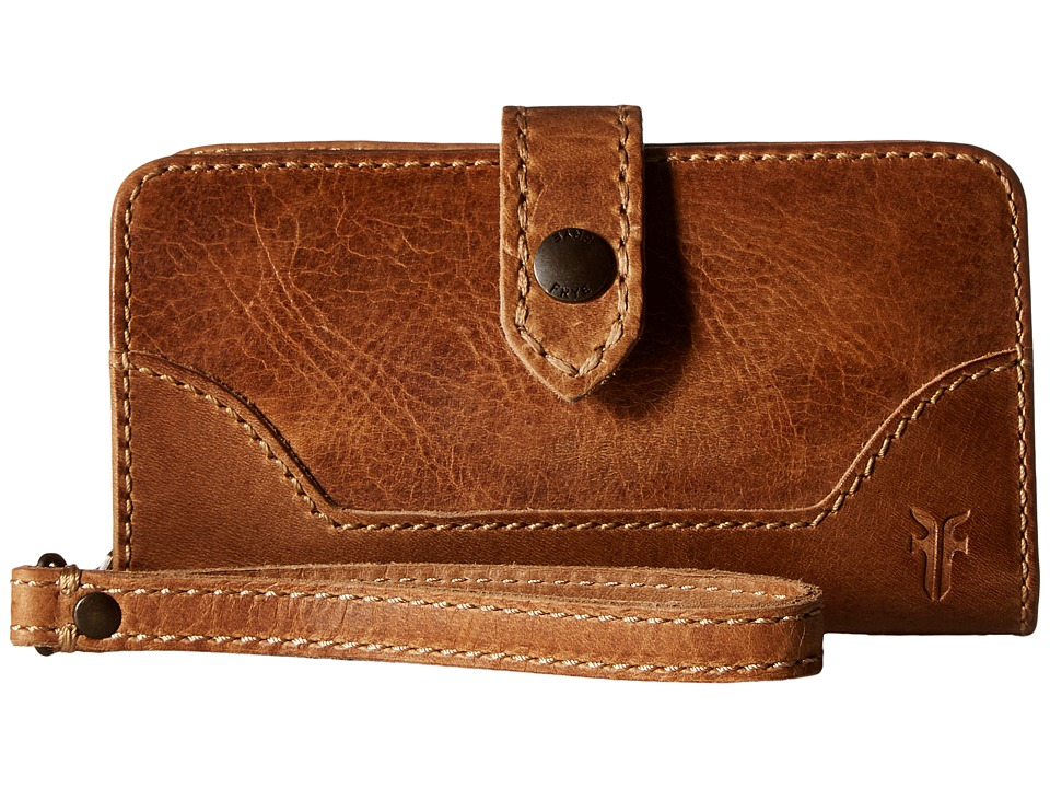 Frye - Melissa Phone Wallet (Beige Antique Pull Up) Bill-fold Wallet