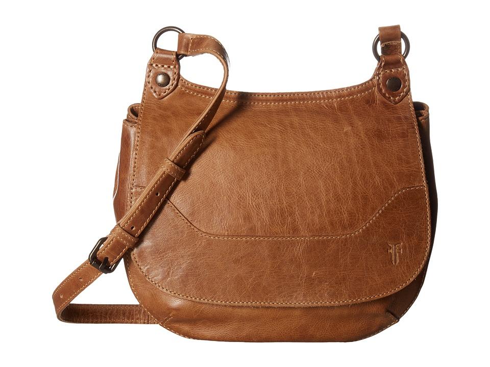 Frye - Melissa Saddle (Beige Antique Pull Up) Handbags