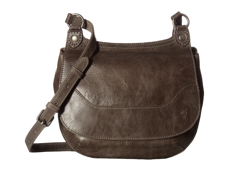 Frye - Melissa Saddle (Ice Antique Pull Up) Handbags