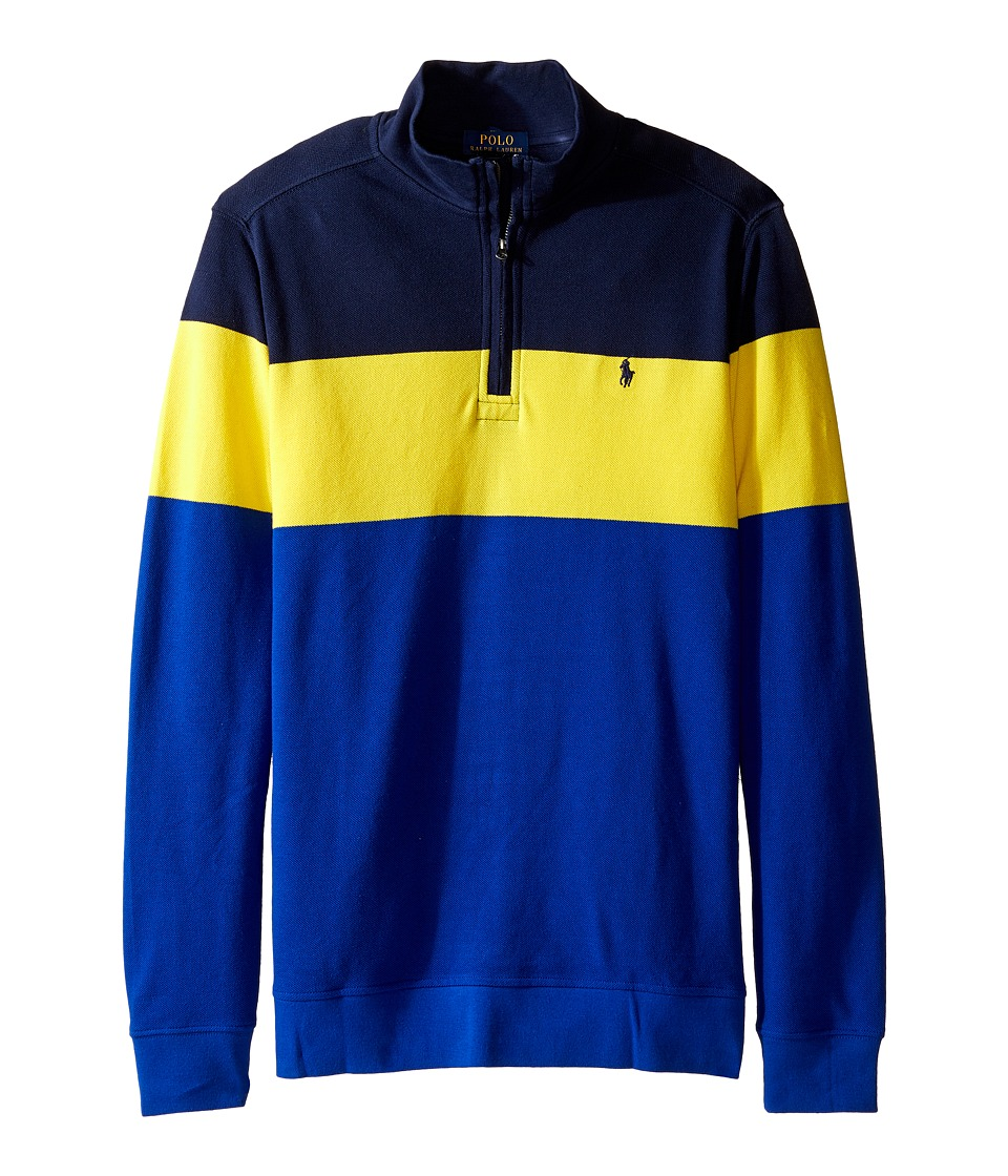 Polo Ralph Lauren Kids - Yarn-Dyed Long Sleeve 1/2 Zip (Big Kids) (French Navy) Boy's Sweatshirt
