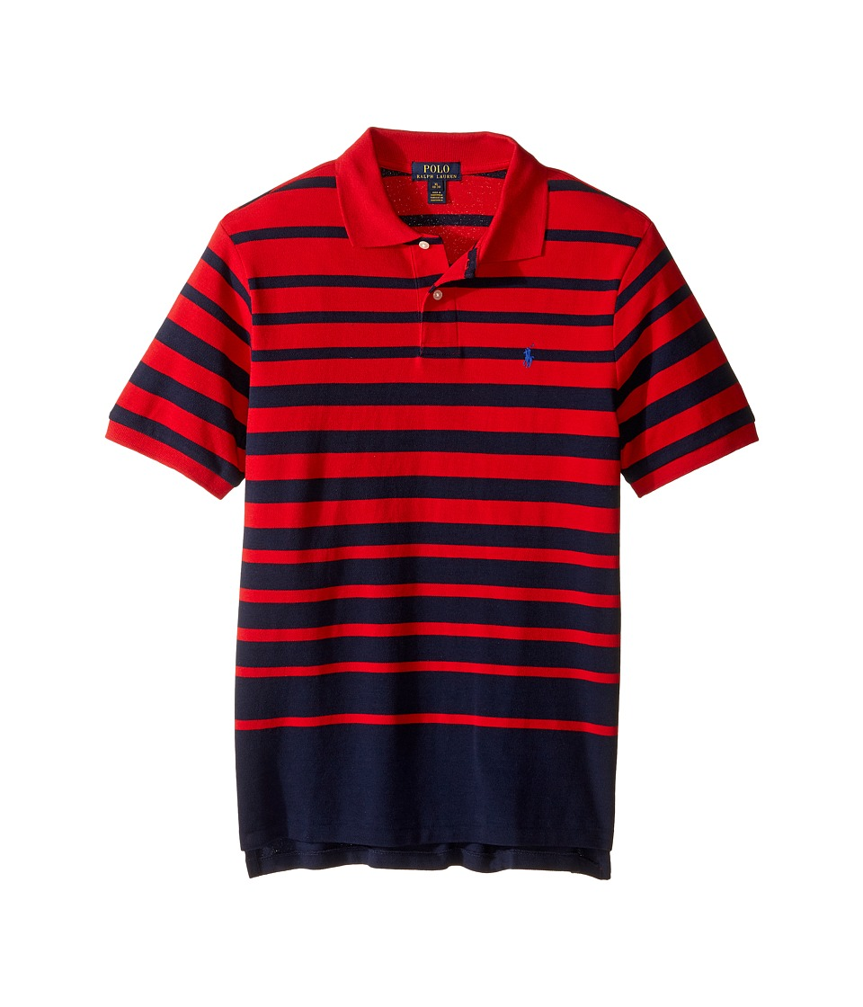 Polo Ralph Lauren Kids - Yarn-Dyed Mesh Short Sleeve Shirt (Big Kids) (Cruise Red Multi) Boy's Short Sleeve Pullover