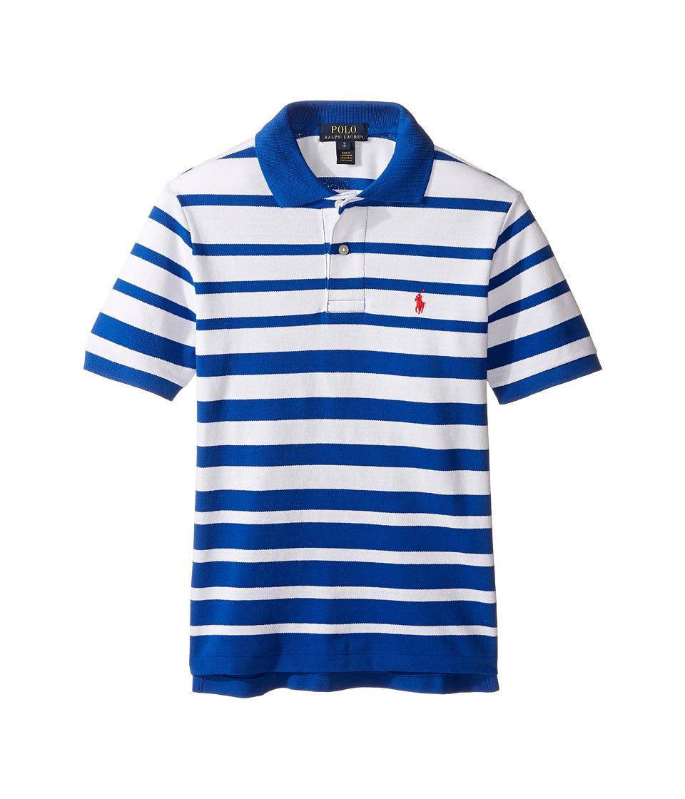Polo Ralph Lauren Kids - Yarn-Dyed Mesh Short Sleeve Shirt (Big Kids) (Sapphire Star Multi) Boy's Short Sleeve Pullover