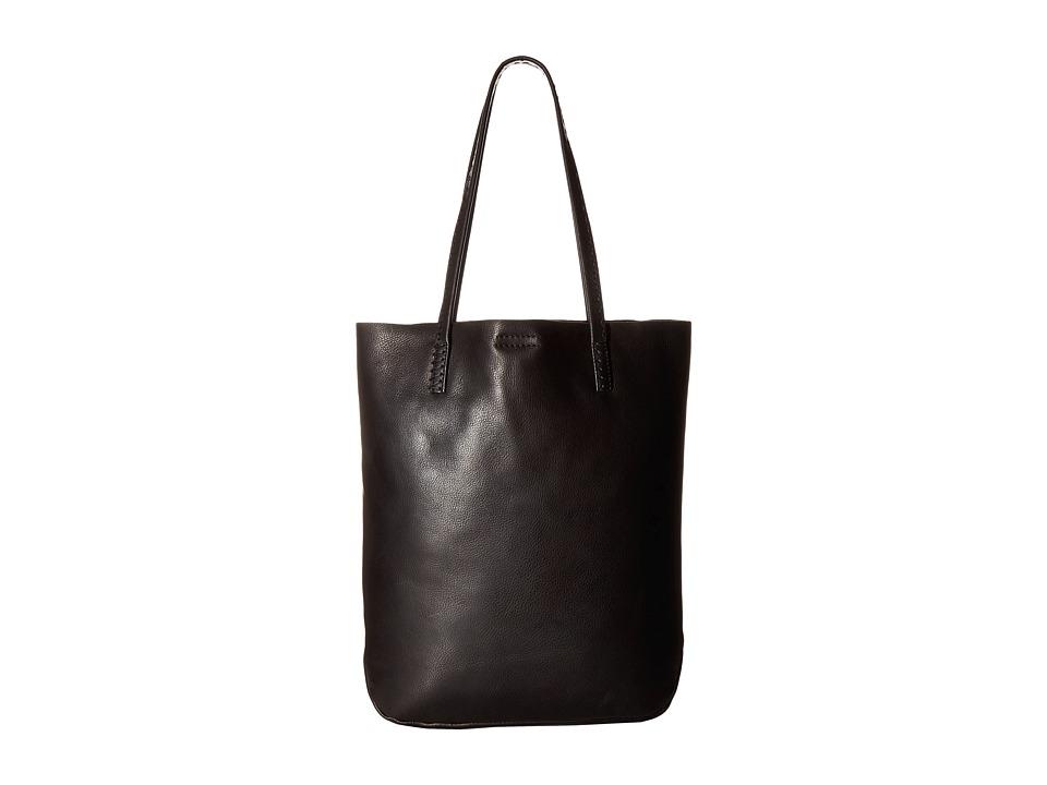 Frye - Naomi Pickstitch Tote (Black Soft Full Grain) Tote Handbags