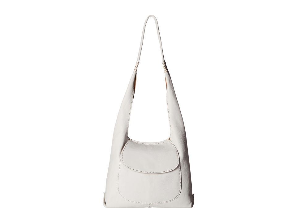 Frye - Naomi Pickstitch Hobo (White Soft Full Grain) Hobo Handbags