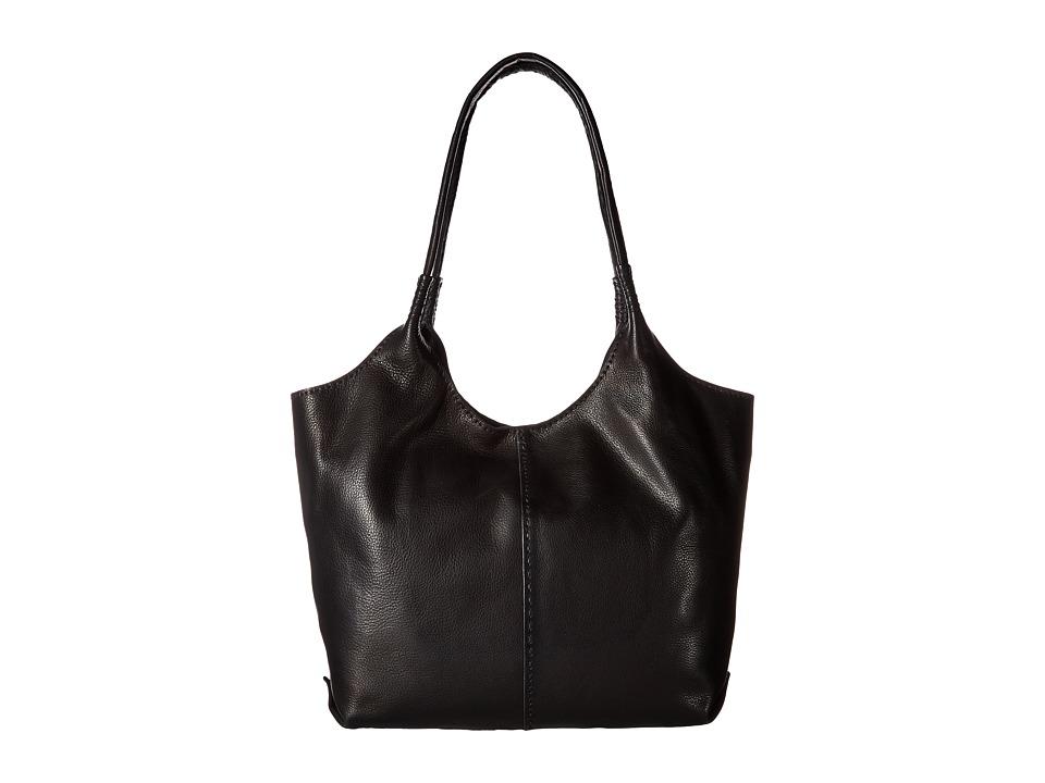 Frye - Naomi Pickstitch Shoulder (Black Soft Full Grain) Shoulder Handbags