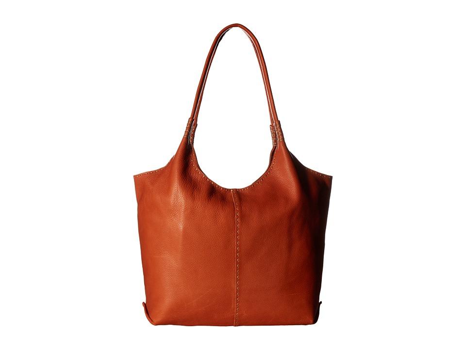 Frye - Naomi Pickstitch Shoulder (Orange Soft Full Grain) Shoulder Handbags