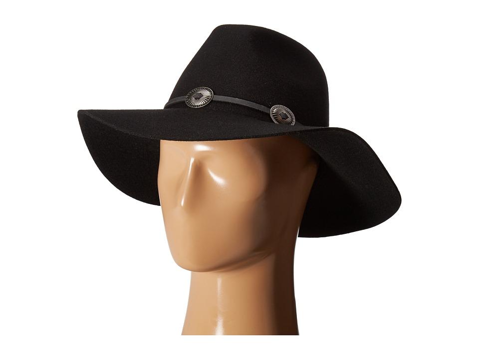 Brixton - Cedar Fedora (Black) Fedora Hats