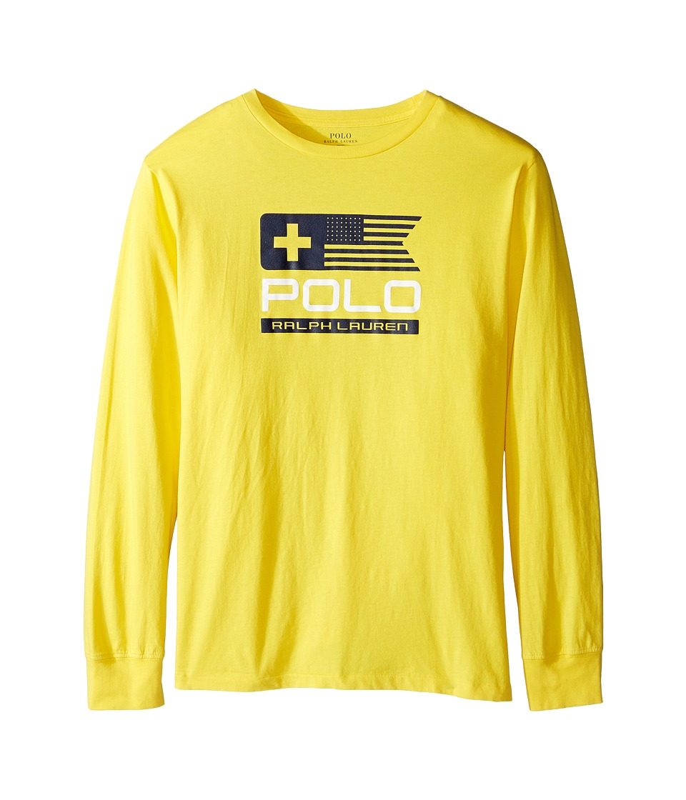 Polo Ralph Lauren Kids - Basic Jersey Graphic T-Shirt (Big Kids) (Active Yellow) Boy's T Shirt
