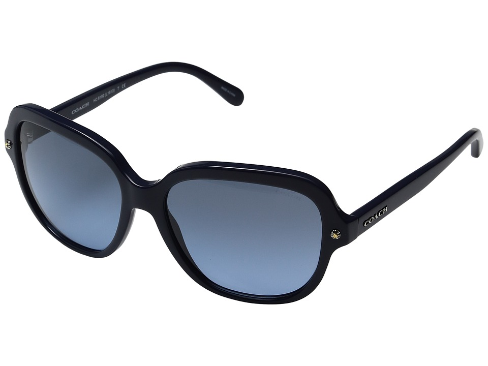 COACH - 0HC8192 56mm (Navy/Grey Blue Gradient) Fashion Sunglasses