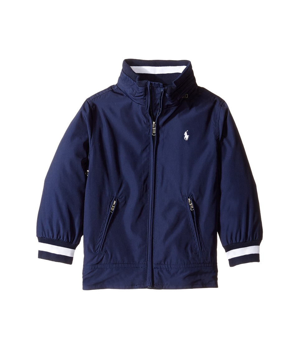 Polo Ralph Lauren Kids - Plain Weave Windbreaker (Toddler) (True Navy) Boy's Coat
