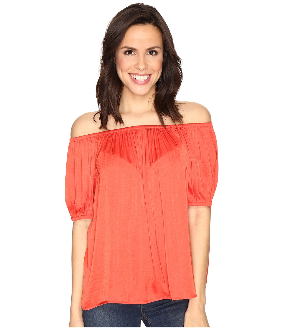 CATHERINE Catherine Malandrino - Off Shoulder Top (Tangy Apricot) Women's Clothing