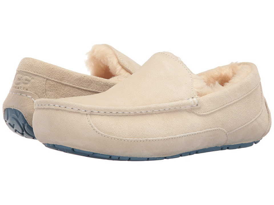 UGG - Ascot (White/Blue Shadow) Men's Slippers