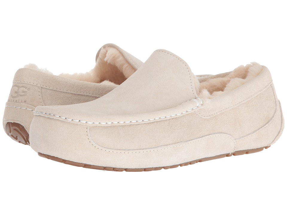 UGG - Ascot (White) Men's Slippers