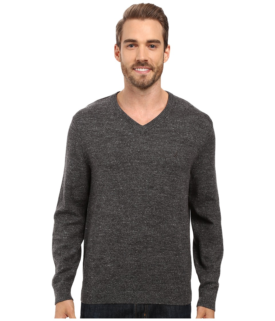 Nautica - Snowy V-Neck Sweater (True Black) Men's Sweater