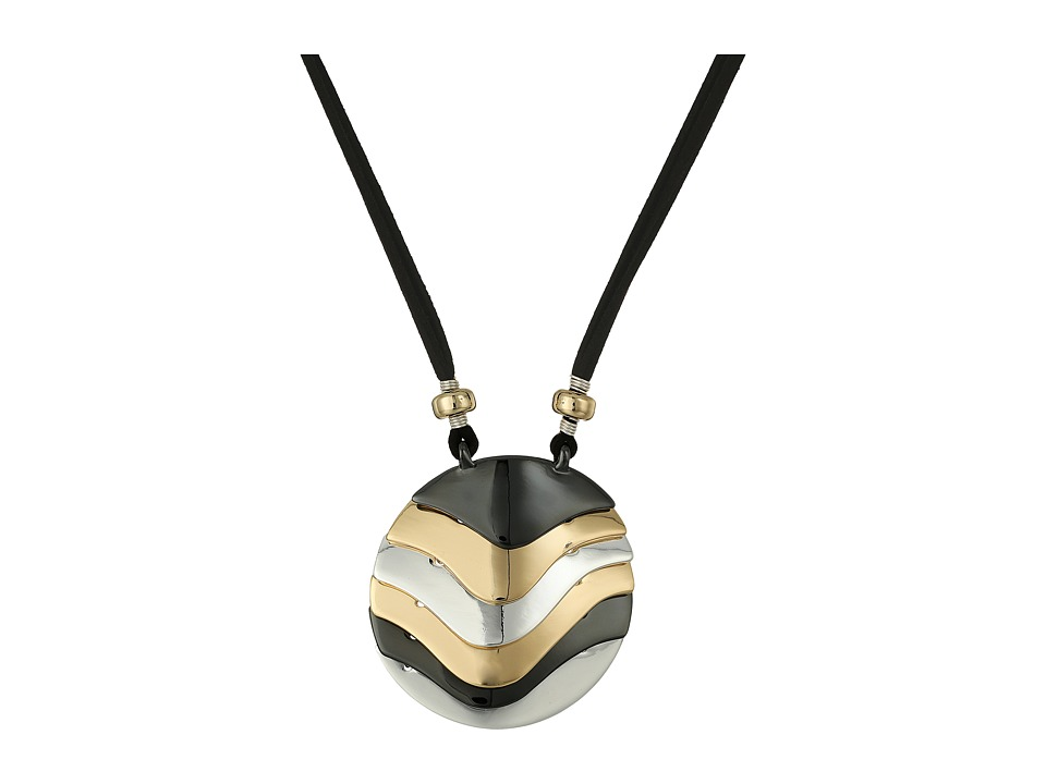 Robert Lee Morris - Tri-Tone Long Pendant Necklace (Tri-Tone) Necklace