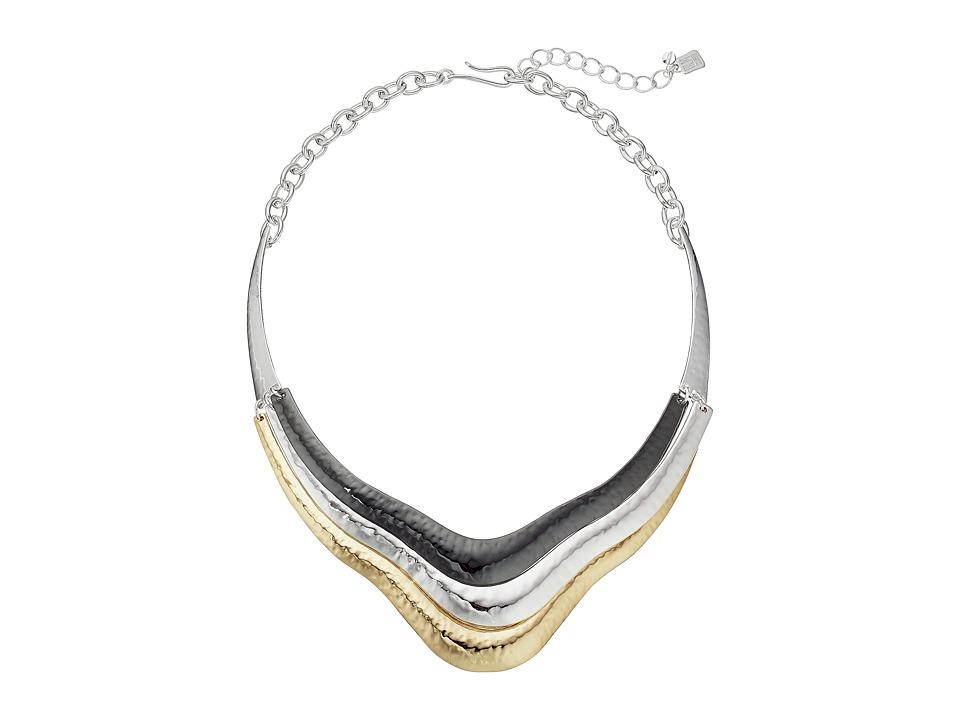 Robert Lee Morris - Tri-Tone Sculptural Frontal Necklace (Tri-Tone) Necklace