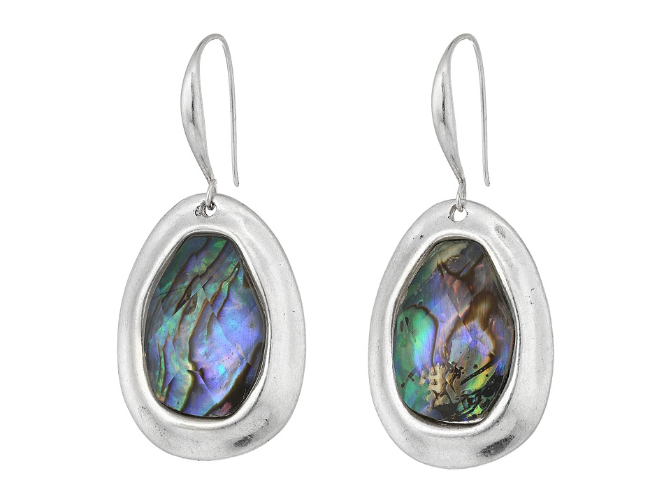Robert Lee Morris - Abalone Silver Stone Drop Earrings (Abalone) Earring