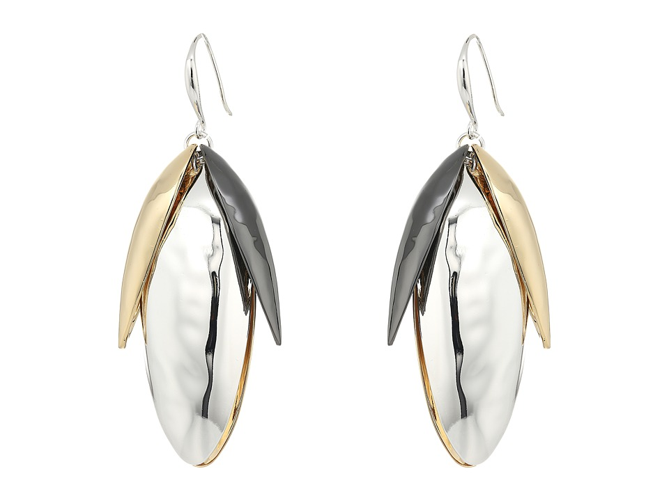 Robert Lee Morris - Tri-Tone Shaky Drop Earrings (Tri-Tone) Earring