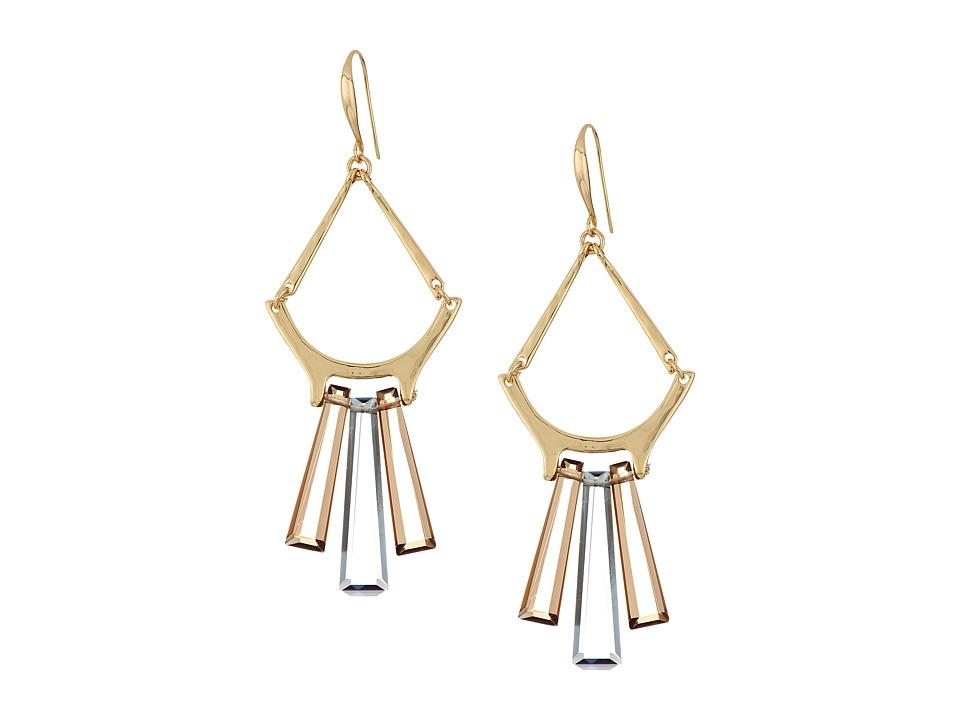 Robert Lee Morris - Topaz Black Diamond Gold Chandelier Earrings (Topaz) Earring