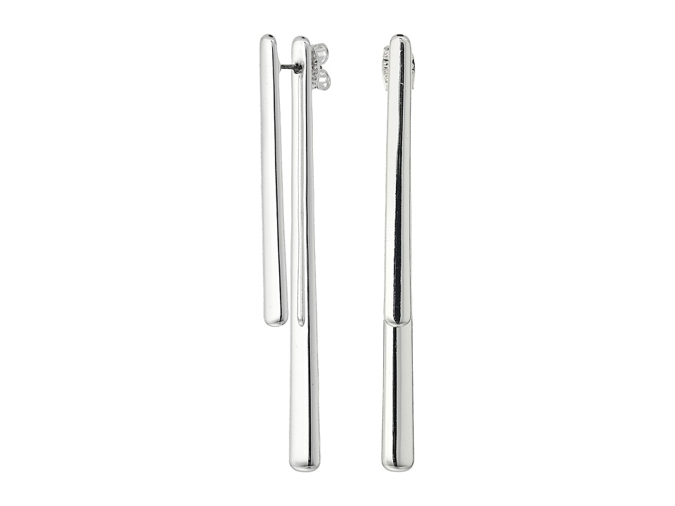 Robert Lee Morris - Silver Front Back Stick Earrings (Silver) Earring