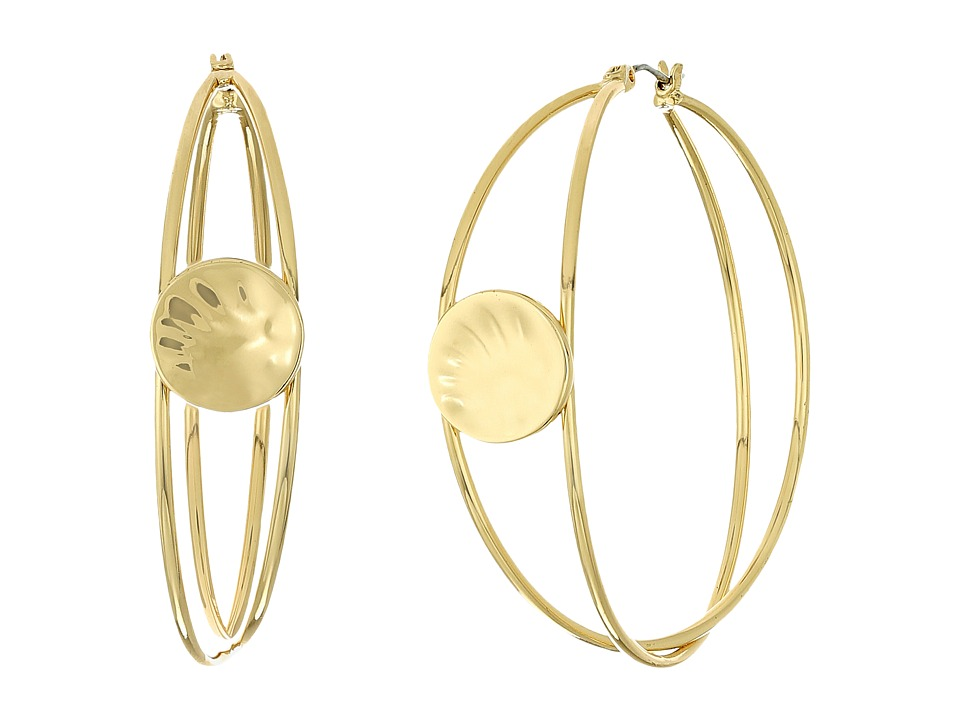 Robert Lee Morris - Gold Overlap Hoop Earrings (Gold) Earring