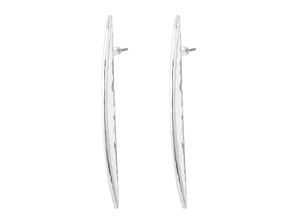 Robert Lee Morris - Silver Linear Earrings (Shiny Silver) Earring