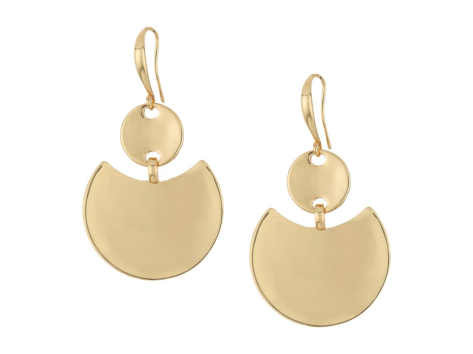 Robert Lee Morris - Gold Disc Drop Earrings (Gold) Earring