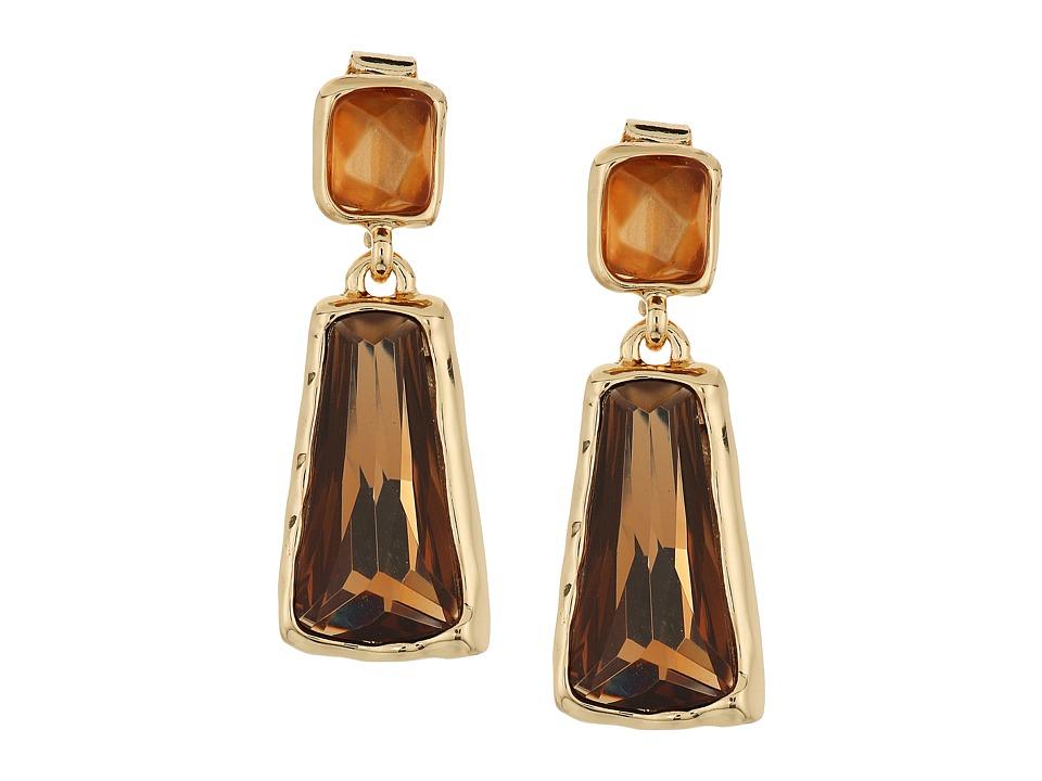 Robert Lee Morris - Topaz Gold Stone Double Drop Earrings (Topaz) Earring