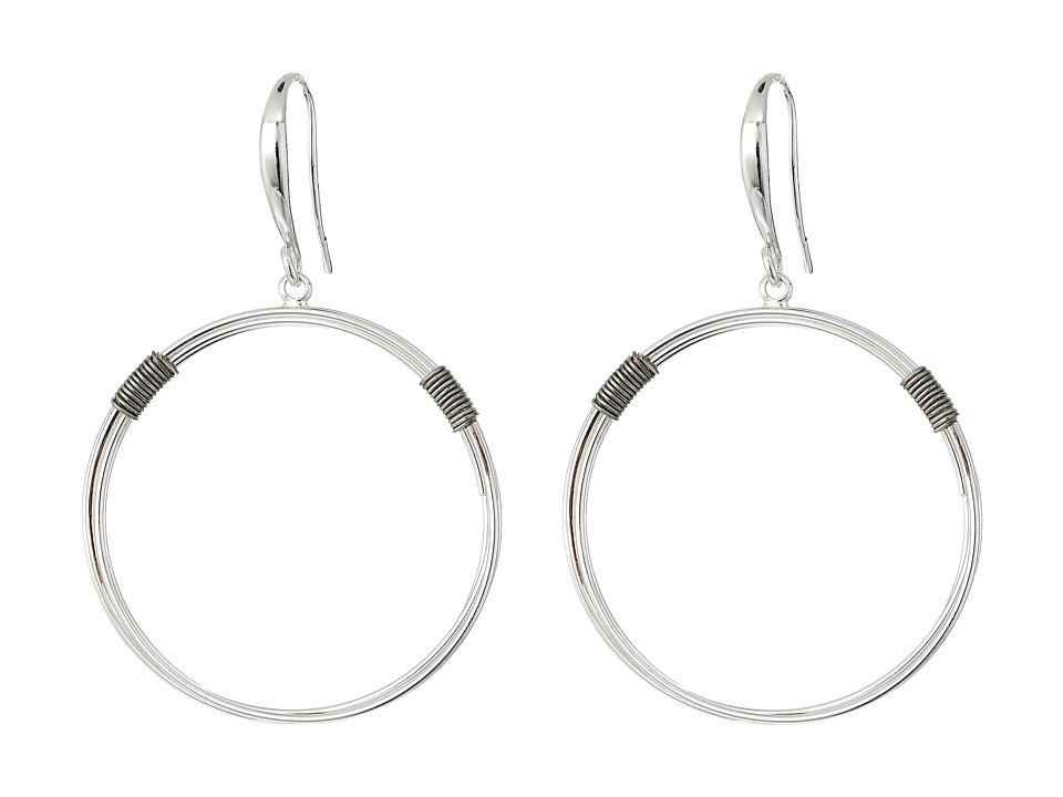 Robert Lee Morris - Silver Gypsy Hoop Earrings (Silver) Earring