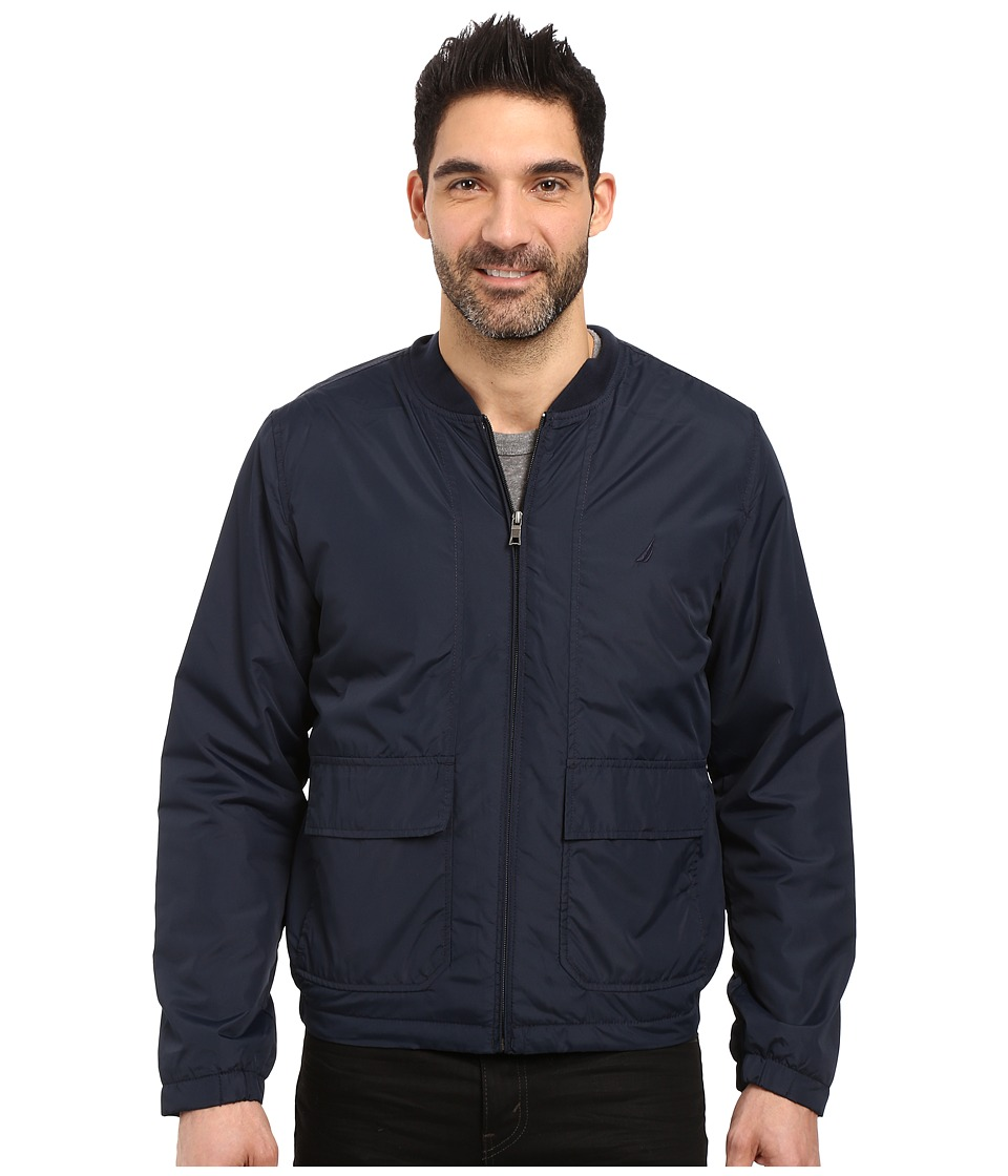 Nautica - Reversible Bomber Jacket (Navy) Men's Coat