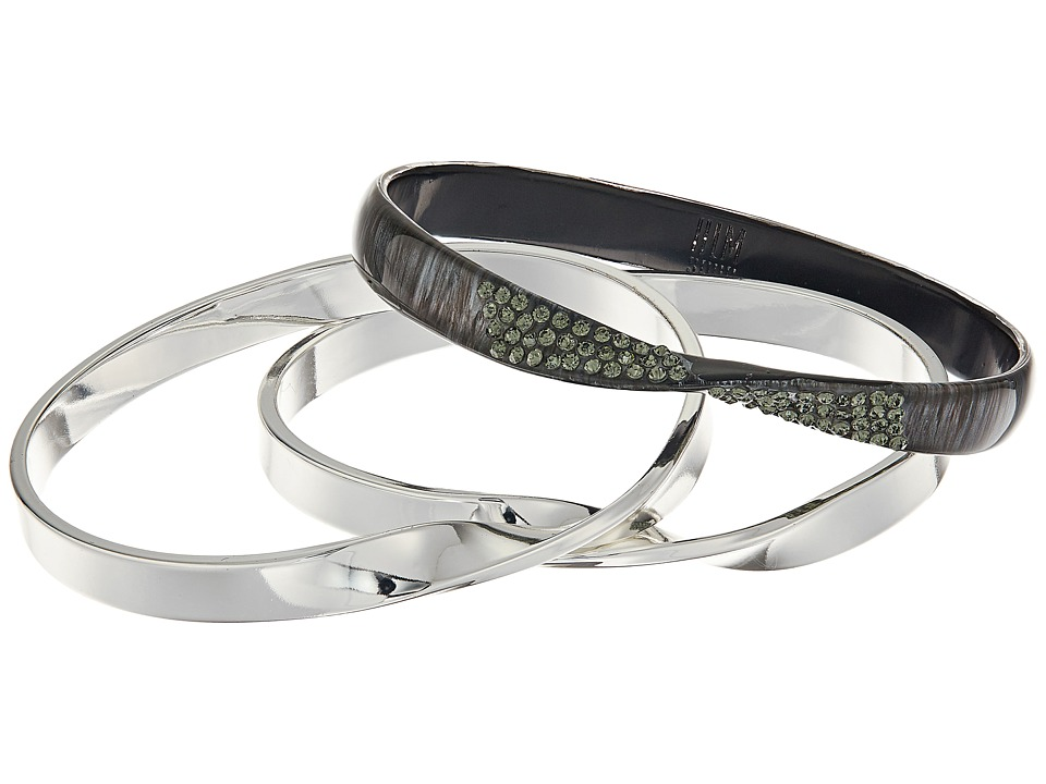 Robert Lee Morris - Grey Silver Bangle Set Bracelet (Grey) Bracelet