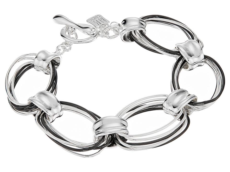 Robert Lee Morris - Silver Hematite Link Bracelet (Silver/Hematite) Bracelet