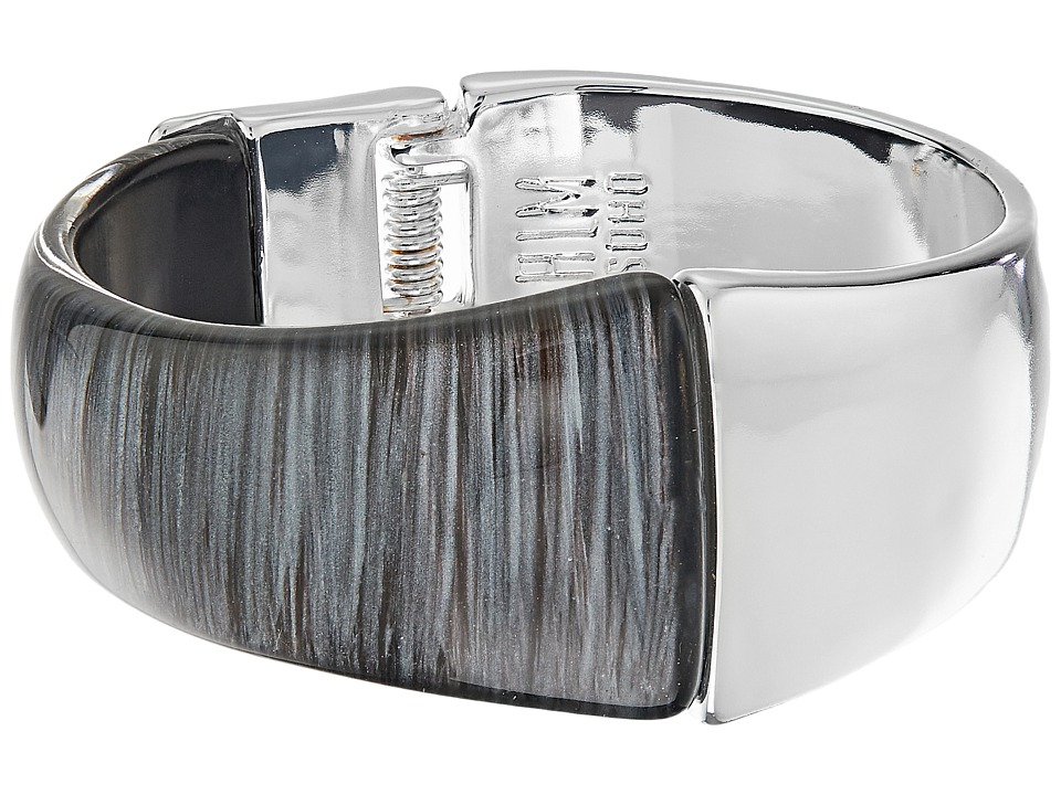 Robert Lee Morris - Grey Silver Hinged Bangle Bracelet (Grey) Bracelet