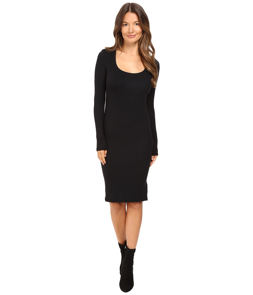 ATM Anthony Thomas Melillo - Wide Neck Long Sleeve Dress (Black) Women's Dress