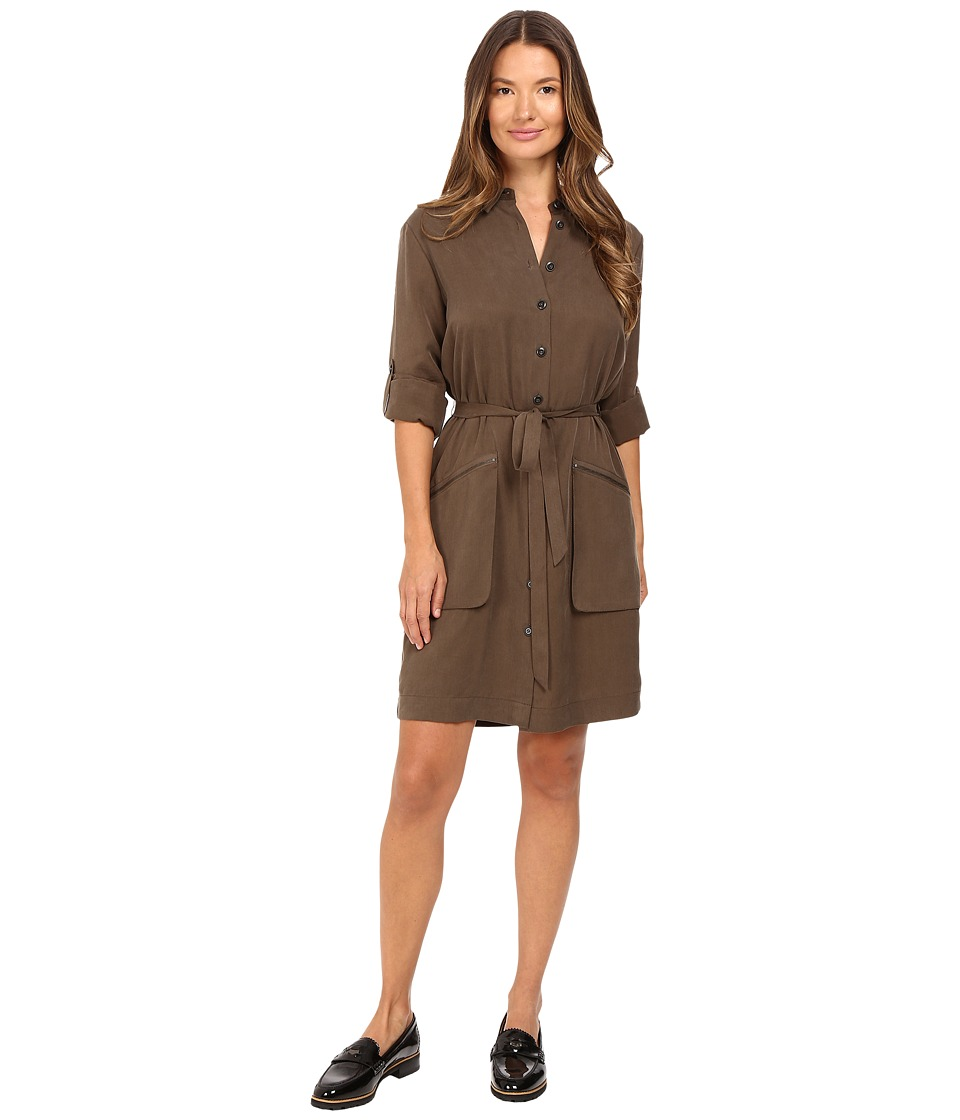 ATM Anthony Thomas Melillo - Belted Shirtdress (Army) Women's Dress