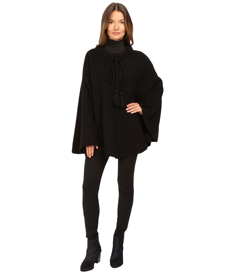 ATM Anthony Thomas Melillo - Poncho with Long Tassel Cords (Black) Women's Clothing