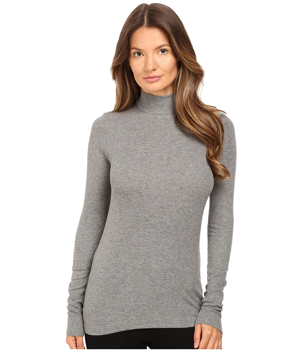 ATM Anthony Thomas Melillo - Long Sleeve Micro Modal Mock Neck (Heather Grey) Women's Clothing