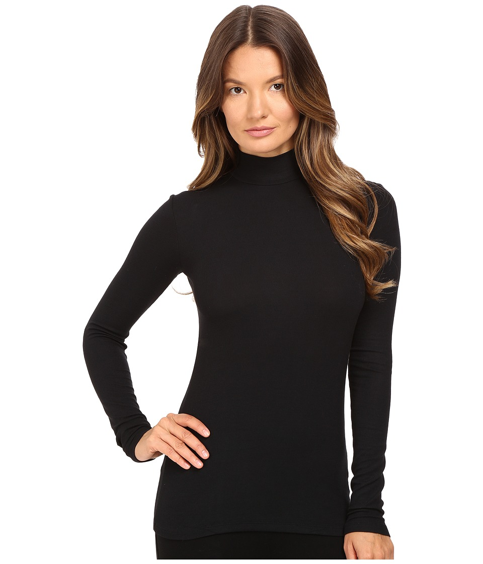 ATM Anthony Thomas Melillo - Long Sleeve Micro Modal Mock Neck (Black) Women's Clothing
