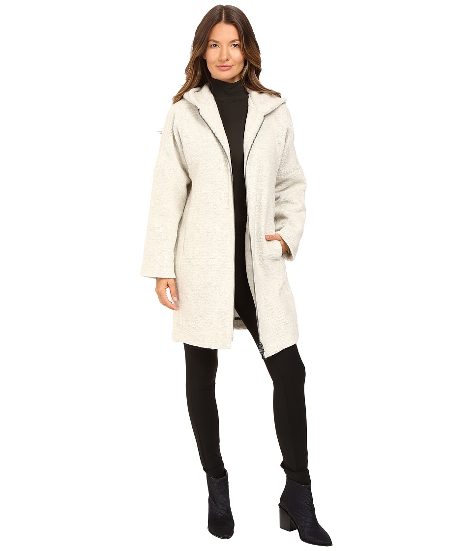 ATM Anthony Thomas Melillo - Cocoon Hooded Zip Coat (Stone) Women's Coat