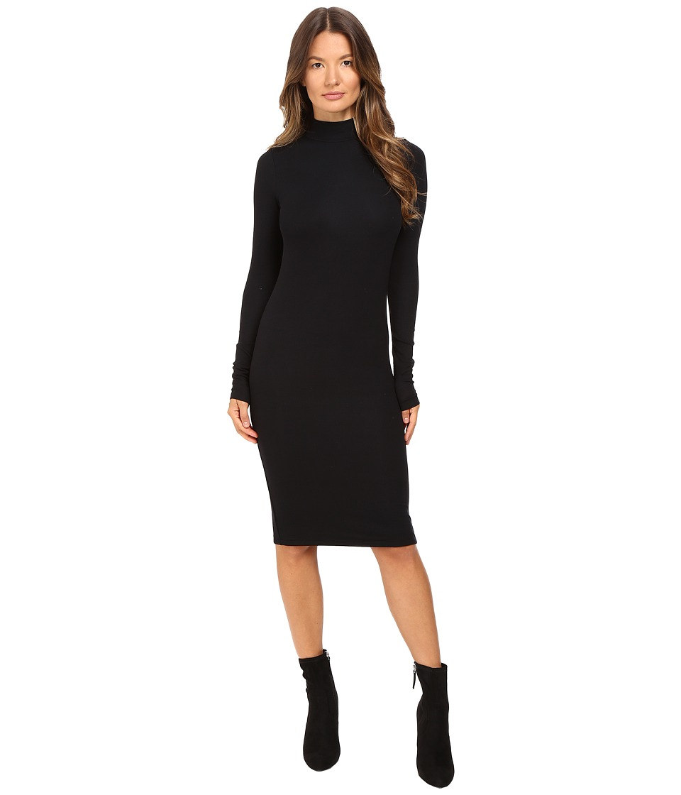 ATM Anthony Thomas Melillo - Long Sleeve Mock Neck Dress (Black) Women's Dress