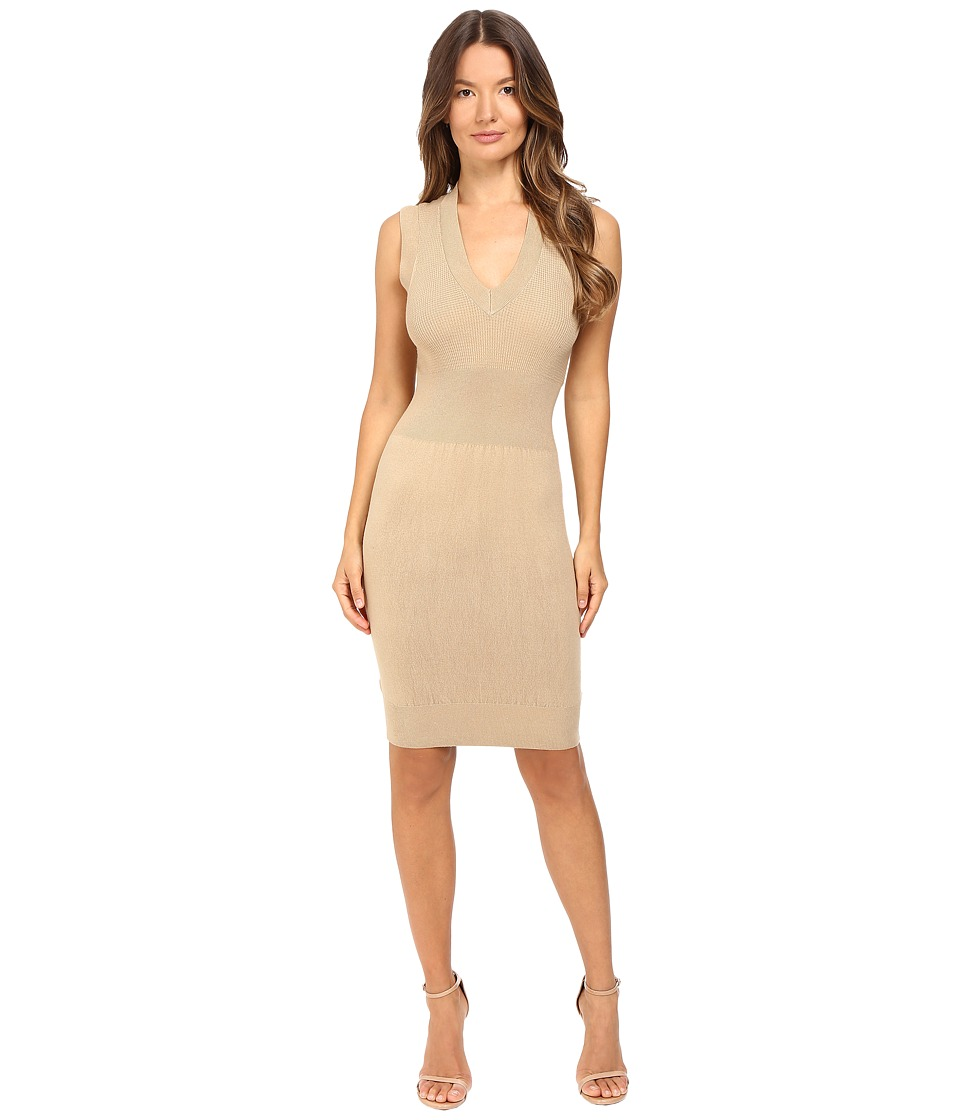 ATM Anthony Thomas Melillo - Sleeveless Sweater Tank Dress (Latte) Women's Dress