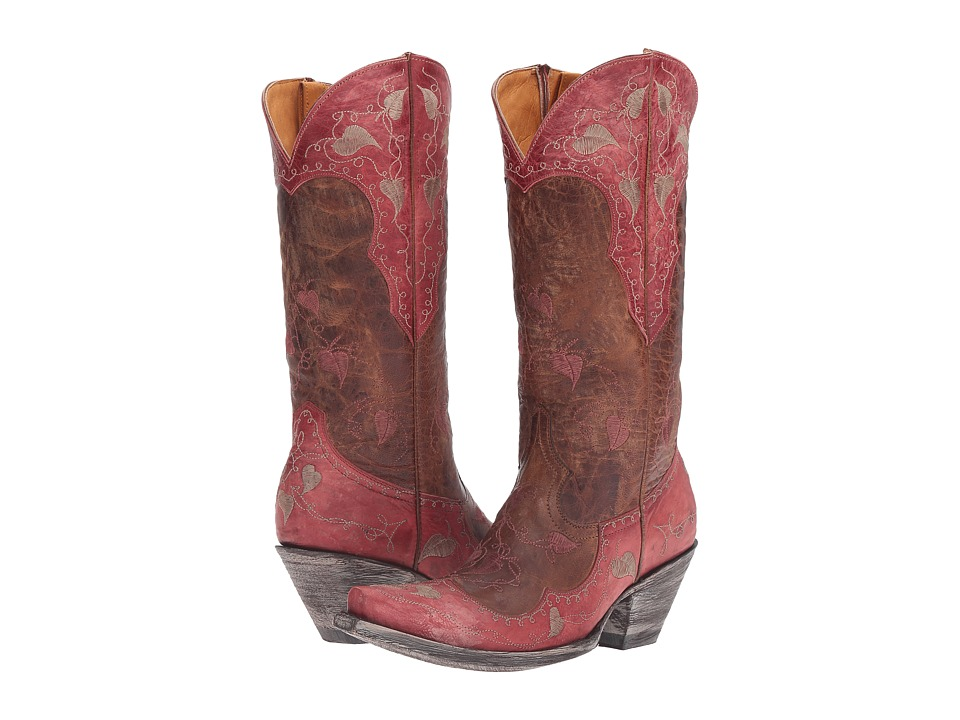 Old Gringo Hearth Leaves (Oryx/Pink) Cowboy Boots