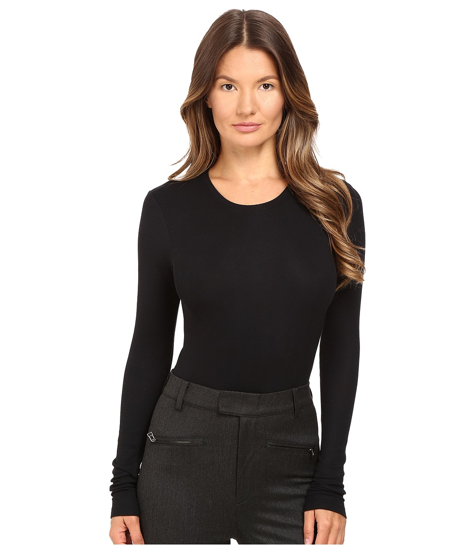 ATM Anthony Thomas Melillo - Long Sleeve Bodysuit (Black) Women's Jumpsuit & Rompers One Piece