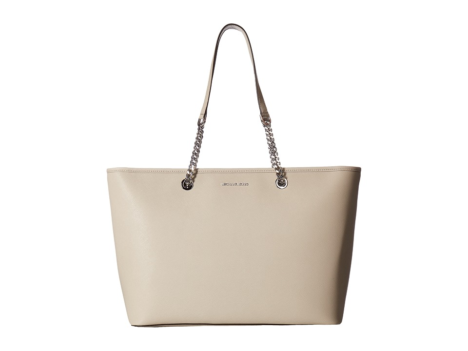 MICHAEL Michael Kors - Jet Set Travel Chain Medium Top Zip Multifunction Tote (Cement) Tote Handbags