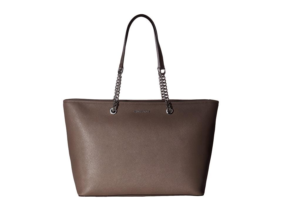 MICHAEL Michael Kors - Jet Set Travel Chain Medium Top Zip Multifunction Tote (Cinder) Tote Handbags