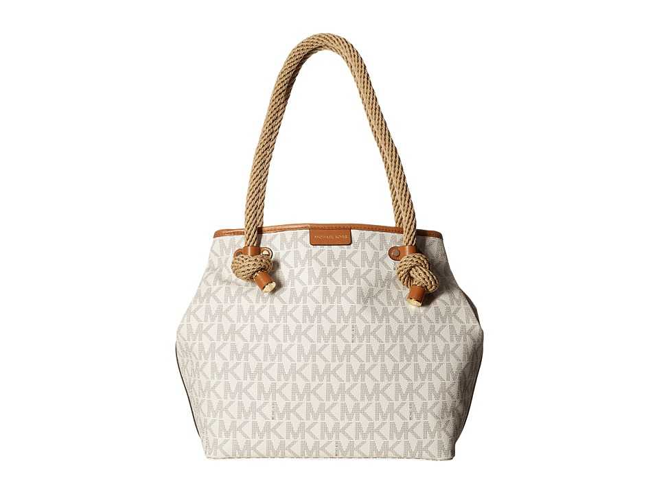 MICHAEL Michael Kors - Maritime Medium Beach Tote (Vanilla) Tote Handbags