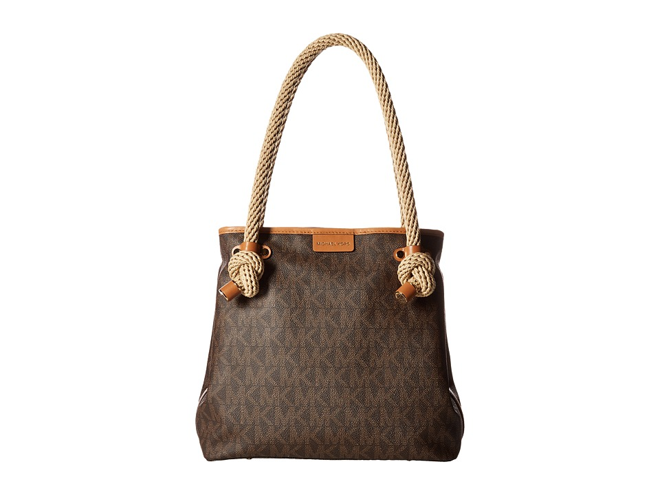 MICHAEL Michael Kors - Maritime Medium Beach Tote (Brown) Tote Handbags