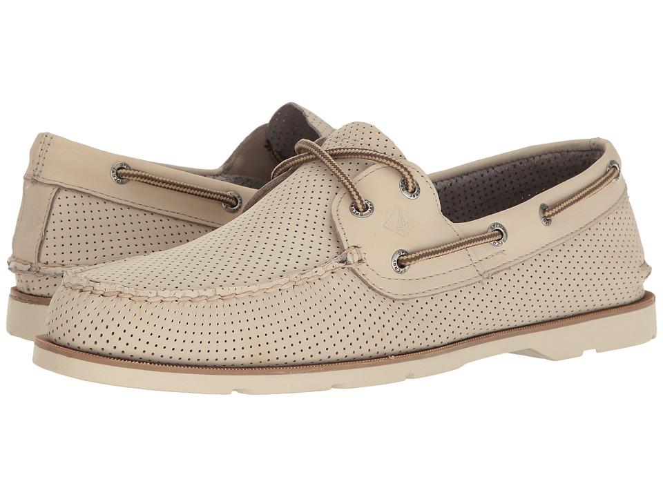 Sperry - Leeward 2-Eye Perf (Ivory) Men's Shoes