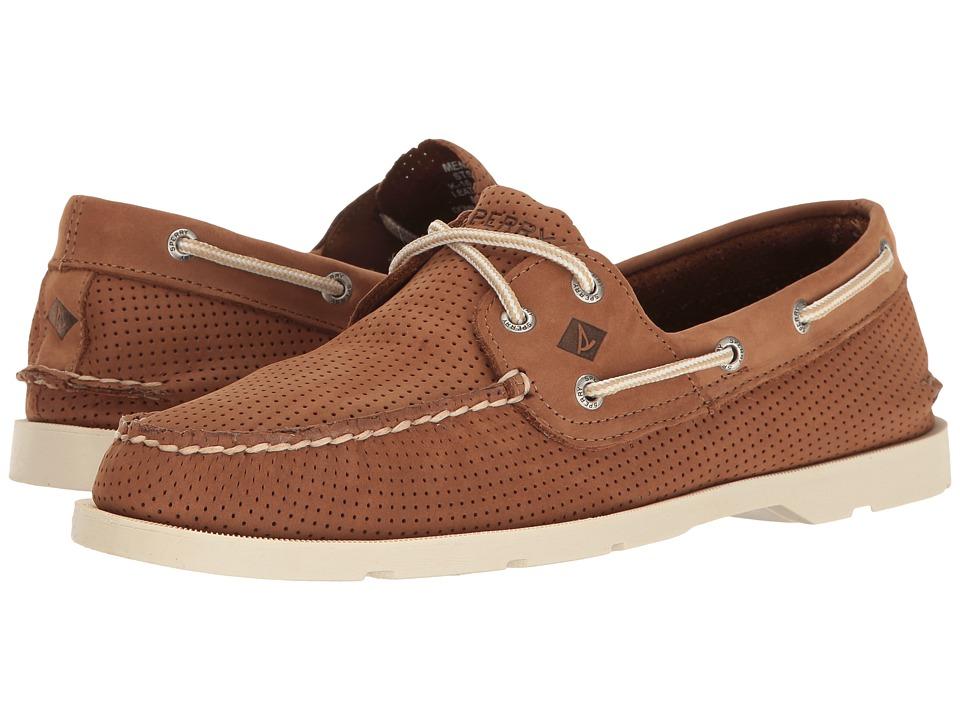 Sperry - Leeward 2-Eye Perf (Tan) Men's Shoes
